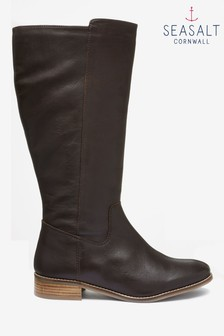 Seasalt Brown Red River Bitter Chocolate Boots