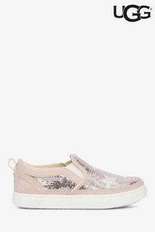 UGG® Kids Pink Sequin Star Slip-On Shoes