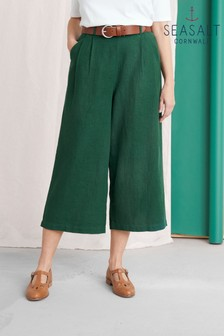 Seasalt Green Breaking Waves Culottes Petite