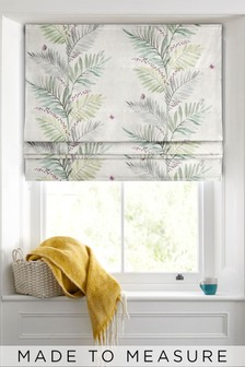 Botanical Print Green Made To Measure Roman Blind