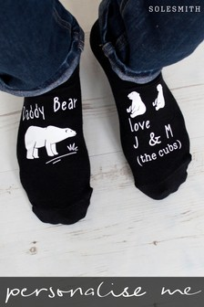 Personalised Daddy Bear Socks by Solesmith