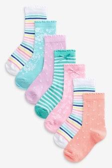7 Pack Pastel Socks