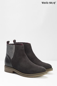 White Stuff Grey Lana Chelsea Boots