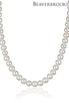 Beaverbrooks Silver Pearl Necklace