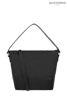 Accessorize Black Amal Quilted Shoulder Bag