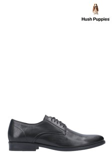 Hush Puppies Black Oscar Clean Toe Lace-Up Shoes