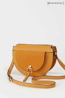 Warehouse Yellow Half Moon Cross Body Bag