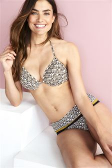Geo Padded Underwired Bikini Top
