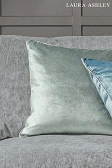 Laura Ashley Grey/Green Nigella Cushion