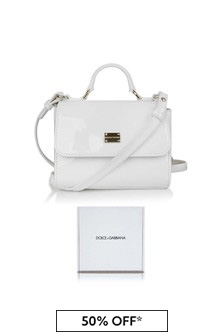 Girls White Patent Leather Bag