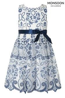 Monsoon Blue Maggie Lace Dress
