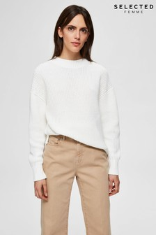 Selected Femme Bailey Side Split Jumper