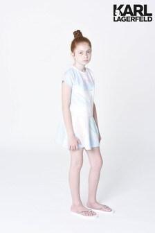 Karl Lagerfeld White Tie Dye Skater Dress