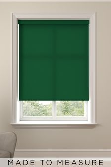 Asher Forest Green Made To Measure Light Filtering Roller Blind