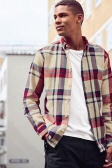 Chemise oversize en flanelle à carreaux