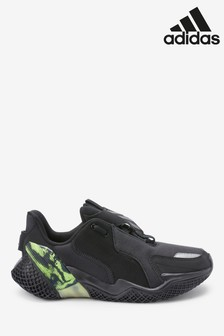 adidas Run Black 4uture Runner Youth Trainers