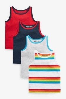 4 Pack Vests (3mths-7yrs)