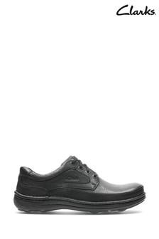Clarks Black Leather Nature Three Shoes