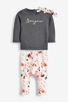 Slogan Sweater Three Piece Set (0mths-2yrs)