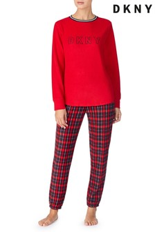 DKNY Fleece Top And Joggers Pyjama Set