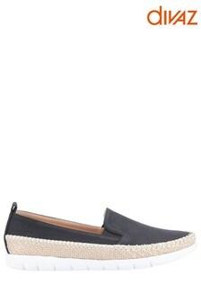 Divaz Black Kendall Slip-On Summer Shoes