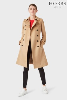 Hobbs Beige Wool Saskia Trench Coat