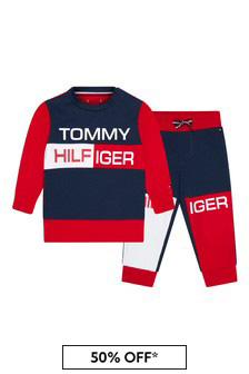 Tommy Hilfiger Baby Boys Navy Cotton Tracksuit
