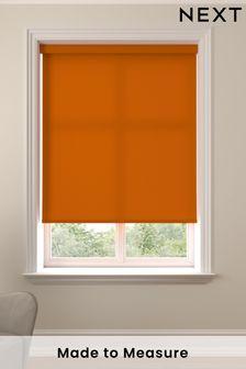 Asher Rust Orange Made To Measure Light Filtering Roller Blind