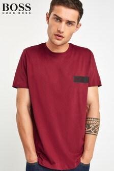 BOSS Red Chest Logo T-Shirt