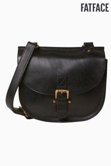 FatFace Black Sian Buckle Detail Saddle Bag