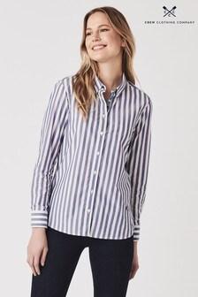 Crew Clothing Blue Girlfriend Stripe Shirt
