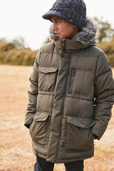Longline Padded Jacket (3-16yrs)