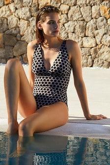 Kostium kąpielowyMint Velvet z głębokim dekoltem