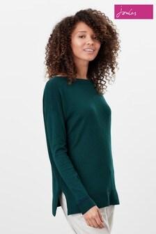 Joules Green Vivianna Slash Neck Jumper