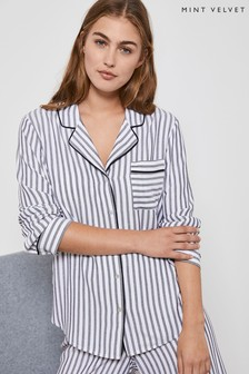 Mint Velvet Stripe Pyjama Shirt