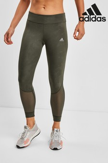 adidas Khaki Own The Run Leggings
