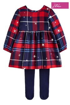 Joules Red Macy Dress Set