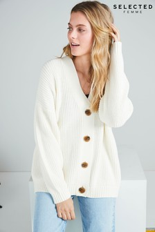 Selected Femme White Bailey Cardigan
