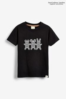Turtledove London Black Organic Cotton Besties Appliqué T-Shirt