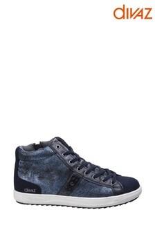 Divaz Blue Steffy Metallic Sneaker Boots