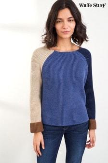 White Stuff Denim Orla Organic Ribbed Sweater