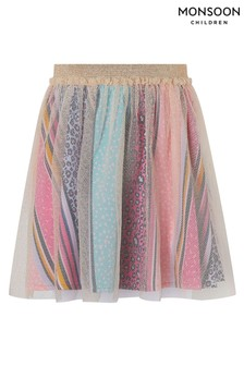 Monsoon Lily Printed Stripe Skirt