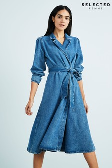 Selected Femme Blue Harper Denim Dress