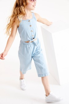 Tie Front Button Through Playsuit (3-16yrs)