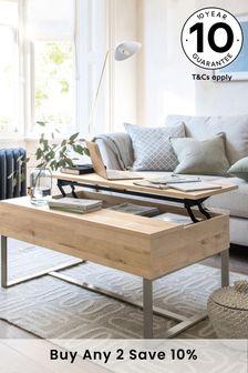 Bronx Oak Effect Coffee Table to Desk