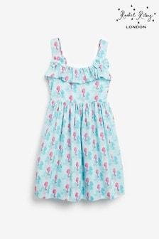 Rachel Riley Blue Seahorse Sun Dress