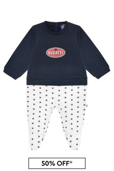Bugatti Baby Boys Navy Cotton Romper