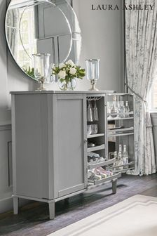 Henshaw Pale Charcoal Drinks Cabinet by Laura Ashley
