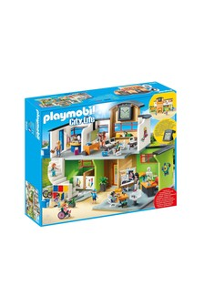 Playmobil® 9453 City Life Furnished School Building With Digital Clock