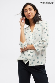 White Stuff Teal Periwinkle Shirt